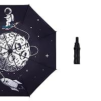 宇宙飛行士 日傘 折りたたみ傘 UVカット 遮光 折り畳み傘 紫外線遮断 軽量 晴雨兼用 プレゼント ギフト