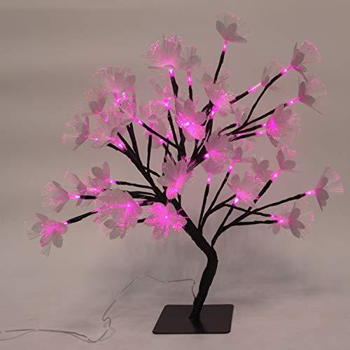 YXZN Tree Lights LED Christmas Night Light Black Fiber Optic Flower Tree Light, Branch Potted Night Light, HomeDecoration Ornaments