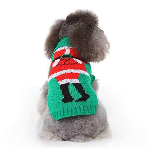 Yowablo Jacke Hunde Winter Outdoorjacke Jacke Hunde Herbst Regenjacke Herbst Jacke Hunde Übergangsjacke Jacke Hunde Wasserdicht Jacke Hunde Übergang Oversize Pulli Sweater (M,10- Grün)