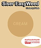 Siser EasyWeed アイロン接着 熱転写ビニール - 12インチ 25 Yards クリーム HTV4USEW12x25YD