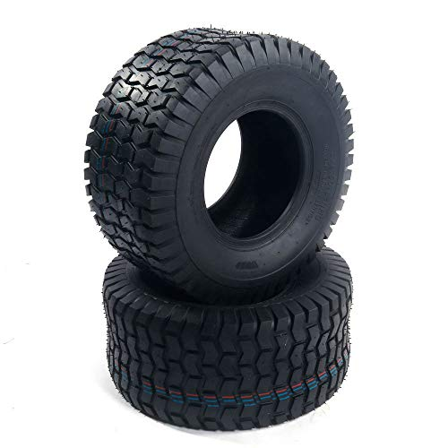 AutoForever 8'Lawn Garden Tubeless Tires 18x8.50-8 18-8.50-8 4 PLY Turf Tractor Lawn Mower Golf Cart Tire 18x8.50x8 Tire Load Range 815 Lbs Set of 2