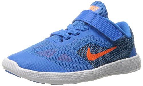 Nike Revolution 3 TDV, Scarpe Walking Baby Unisex-Bambini, Multicolore (Photo Blue/Ttl Orange/Blck/Wht), 19 1/2 EU