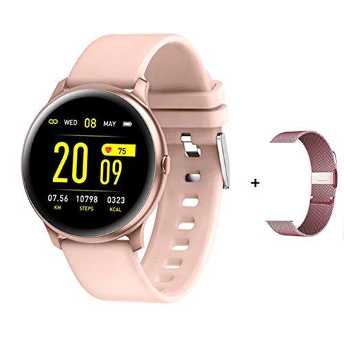 ZRY KW19 Pro Pantalla Táctil Completa Reloj Inteligente De Las Mujeres Ratón Cardíaco Monitoreo De La Presión Arterial iOS Y Android Impermeable Sports Watch Smart Watch,B