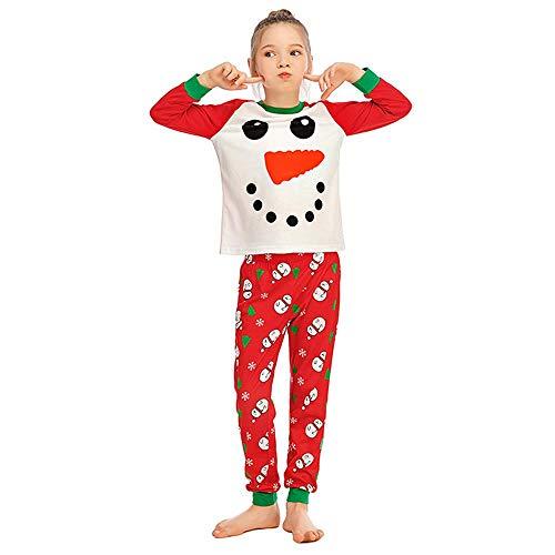 Kinder Zweiteiliger Schlafanzug Weihnachtspyjamas Weihnachtskleidung Pyjama Set...