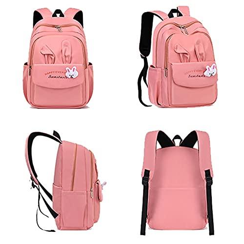 jwj Bolsas escolares lindas de dibujos animados para niños, mochila de escuela primaria, mochila para niños, bolsa de hombro (color: púrpura)