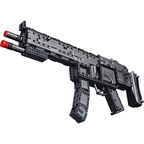 SDUK Technik subfusil de Bloques de construcción, Kit de Armas de Rifle de Bloques de construcción con función de Disparo, 1504 Piezas compatibles con Ladrillos Lego