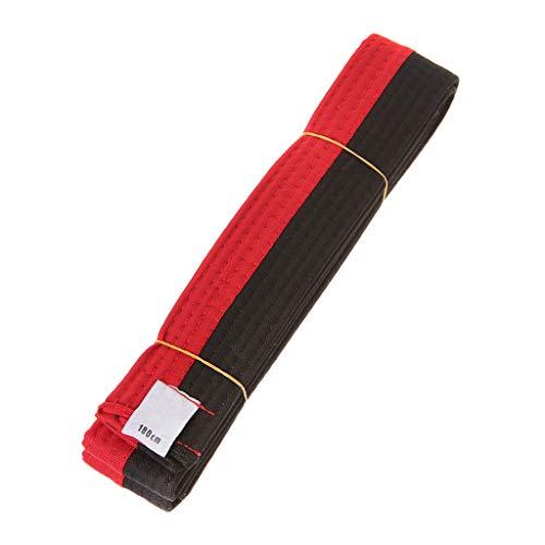 ZIRAN Cinturón de Taekwondo Profesional Karate Judo Cinturón Deportivo de Rayas de Artes Marciales de Doble Envoltura 1,8 m / 2,8 m Cinturón de Taekwondo-Poliéster + EVA