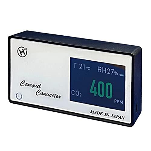 東京Deco 日本製 二酸化炭素濃度計測器 CO2濃度 温度 湿度 換気 USB電源 [周りの二酸化炭素を数値化] タイミング 見える化 高感度密度計 二酸化炭素 濃度計 濃度 測定器 CO2 モニター i001