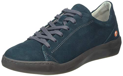 Softinos Damen BAUK543SOF Sneaker, Grün (Dk.Petrol 010), 39 EU