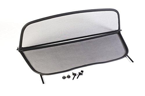 Frangivento pieghevole nero con chiusura rapida per AUDI A4 B6 B7 Decappottabile 2002-2009 | Deflettore aria | Deflettore del vento | Paravento per decappottabili