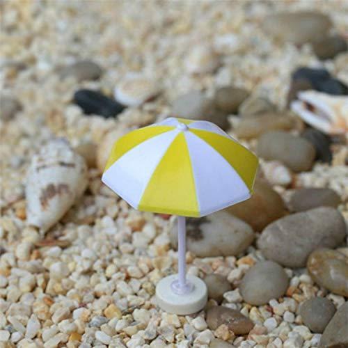 Sombrilla para el sol, 2 piezas, miniatura para el hogar, jardín, decoración de mesa, decoración de manualidades, tamaño: M
