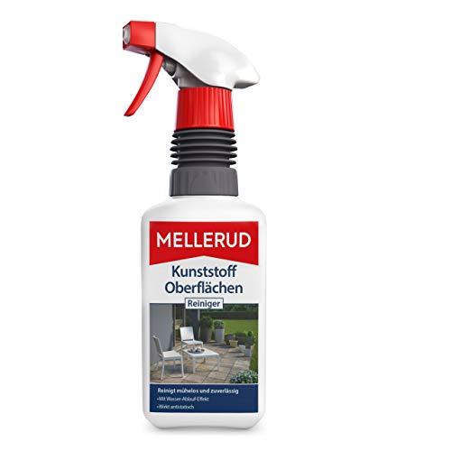 Mellerud Kunststoff Oberflächen Reiniger – Wirkungsvolles Spray gegen hartnäckige Verschmutzungen auf Allen Kunststoffoberflächen – 1 x 0,5 l