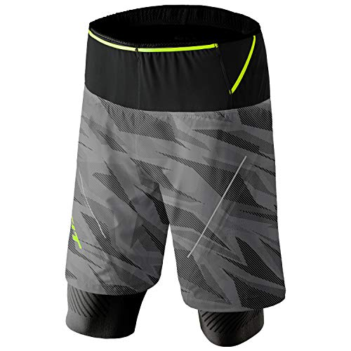 DYNAFIT M Glockner Ultra 2in1 Shorts Grau, Herren Shorts, Größe L - Farbe Quiet Shade Camo