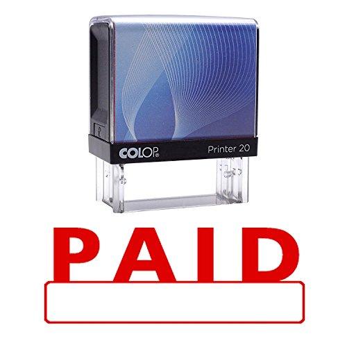 PAID zelfkleurende stempel Red Ink-toepassingen op kantoor op stempel Colop Stamper 14 mm x 38 mm OR 9/16