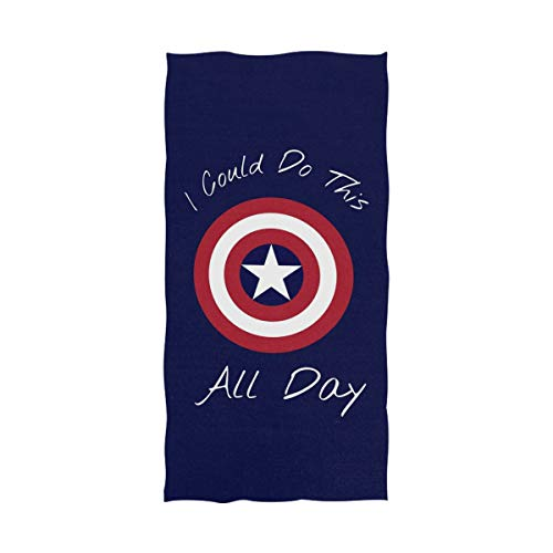 Lie fairy tale Captain America Best Microfiber Pool Beach Towel Quick-Drying Bath Travel Towel Shower Sand Free Proof - Water Absorption Luxury Environmental Protection (51 X 31 inches)