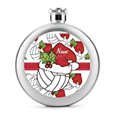 Personalize Santa Hat - Custom-Pictures 6 Oz Round Alcohol Liquor Flask (Stainless Steel)