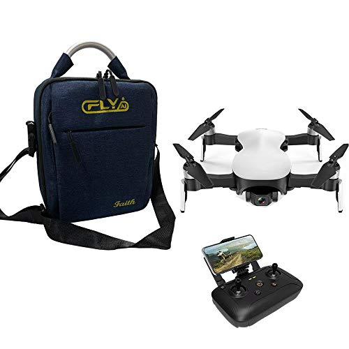 Luccase Weiß RC Drone C-Fly Faith FPV 5G WiFi 4K High-Definition Kamera GPS Brushless Hover 3-Achsen RC Drone mit Tasche und Batterie, Fernbedienung mit Kamera