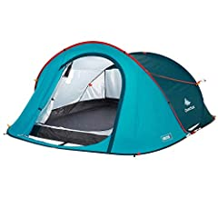 "2 Second 3-Person Camping Tent is designed for 2 people camping looking for a tent that's quick to assemble and dismantle. COMPACT DESIGN. 30.3 x 3.5"" / 41.9 liters / 7.9 lbs. CAPACITY. Sleeping area 70.9"" X 82.7"" Max. useful height: 40.9"" VENTILATIO..."