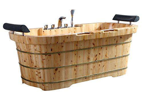 Alfi Two-Person Wooden Bathtub
