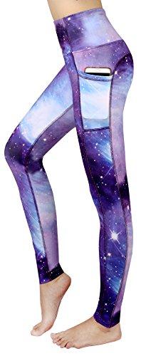 New Minc Women Galaxy Leggings Printed -Tummy Control- High Waist Yoga Pants with Pockets (YH01)-96XS