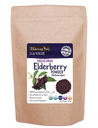 Wilderness Poets, Elderberry Powder - Freeze Dried, Organic (16 Ounce...