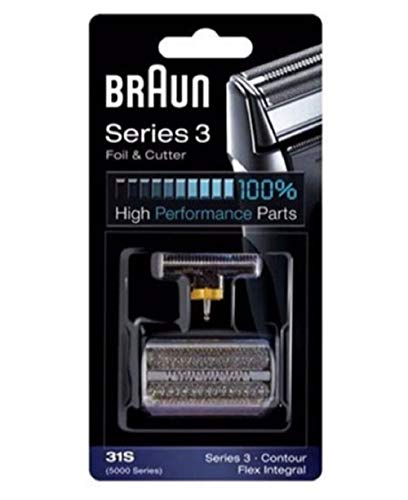 Price comparison product image Braun Series 3 Combi 31s Foil And Cutter Replacement Pack,  with SmartFoil Technology Captures Hair Growing In All Directions,  and Get Back 100% of Your Shavers Performance,  Silver Finish