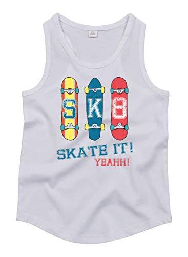 Druckerlebnis24 Tank Top - Skateboard Skaten Rollbrett Vintage - Tops Unisex für Kinder - Jungen und Mädchen