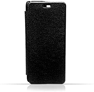 Samsung A5 2015 / A500 Black Frosted PU Leather Flip Cover