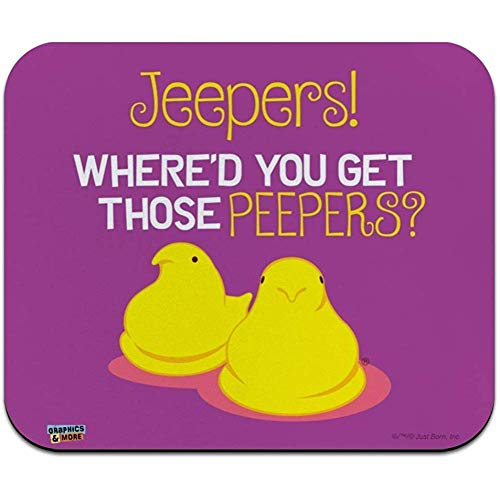 Jeepers Where 'D Get That Peepers Peeps Low Profile Thin Mouse Pad Mousepad