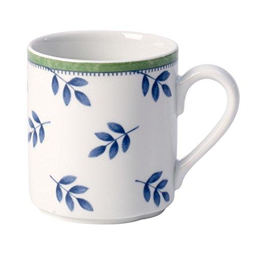 Villeroy & Boch Kaffeebecher, Porzellan, Weiß/Blau/Grün,  300 ml