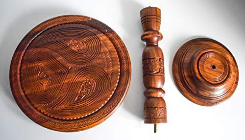 Generic Nüsse Faltkorb,Hand geschnitzt klein Snack Tisch obstschale Dekoschale