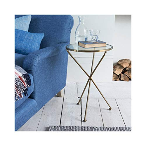 NO BRAND Creative Golden Small Round End Tables Rack Lateral de Almacenamiento Simple y Moderno, sin ensamblaje, 40X40X62CM -1031N