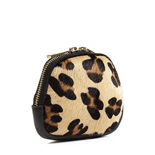 FIRENZE ARTEGIANI. Melania Monedero Mujer .Piel auténtica Savage Cavallino Leopardo Grande.Made in Italy. Vera Pelle Italiana.15x4x10,5 cm. Color: Leopardo Negro.