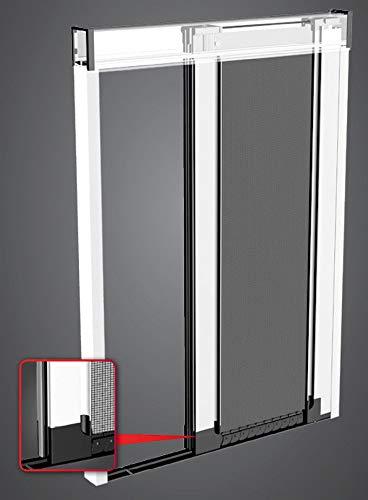 Zanzariera a carrarmato in alluminio per porte balconi, varie misure e colori, made in italy (L 100 X H 200)