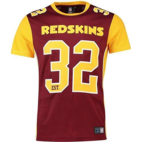 Fanatics Washington Redskins NFL Players Poly Mesh Tee/T Shirt Red - 5XL