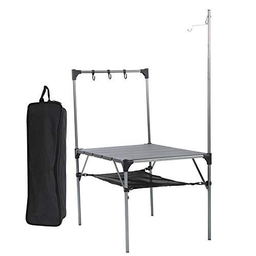 Außengrilltisch Ultraleichter tragbarer Klappgrilltisch aus Aluminiumlegierung Klappbarer Grilltisch Geeignet für Picknicks(Dk-7 Geometric Folding Table)