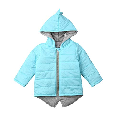Herfst WinterToddler Baby Meisje Kids Leuke Lange Mouw Outfits 3D Dinosaur Hoodies Vest Outwear Waistcoat Warm Jas