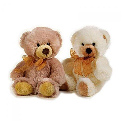 Lelly 24 cm Hugo Teddy Bear Peluche (Petit, Marron)