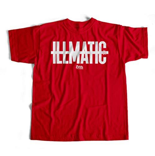 Dibbs Clothing NAS Illmatic Album N.Y. State of Mind Queens Hip-Hop Regular Fit T-Shirt Herren Top T-Shirt Gr. S, rot