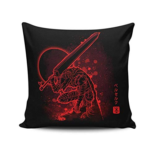 WH-CLA Pillowslip The Cursed Armor Standard Anime Birthday Throw Pillow Covers Chair Home Decorative Colorful Zipped Cushion Case 45X45Cm Dormitory Sofa Pillowcases Cozy Gift Office Bed