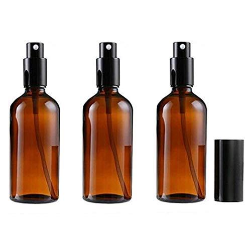 VASANA 3 botellas de 30 ml de cristal ámbar rellenables de niebla fina de 30 ml para perfumes, aromaterapia, cosméticos, agua, perfume, aceites esenciales, aerosol, botellas de viaje