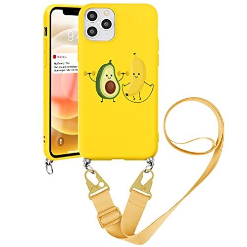 """Pnakqil Funda con Cuerda para Xiaomi Redmi K20 /K20 Pro/Mi 9T /9T Pro 6,39"""" - Suave Silicona Teléfono Móvil Carcasa con Ajustable Collar Correa para Hombro y Cordón para el Cuello Cadena, Aguacate"""
