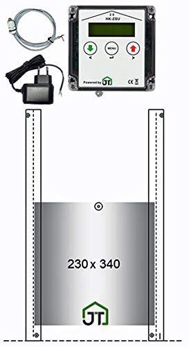 JOSTechnik HK2 für Innenmontage mit echter Nothalt- BZW. Notöffnungsfunktion, Steuerung Anlocklicht und Klappe 230x340 mm