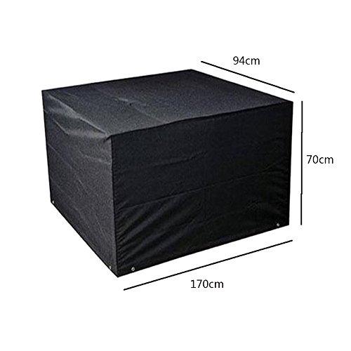 Meijunter 170 * 94 * 70cm Noir Jardin Meubles Imperméable Boîtier étui Protecteur pour Carré Cube Table Banc