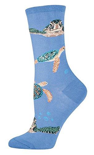 Socksmith Sea Turtles Socks Periwinkle Size 9-11, 1 EA