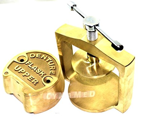 Premium Dental Laboratory LAB Spring Press Compress W/ONE Brass Denture Flask (CYNAMED)
