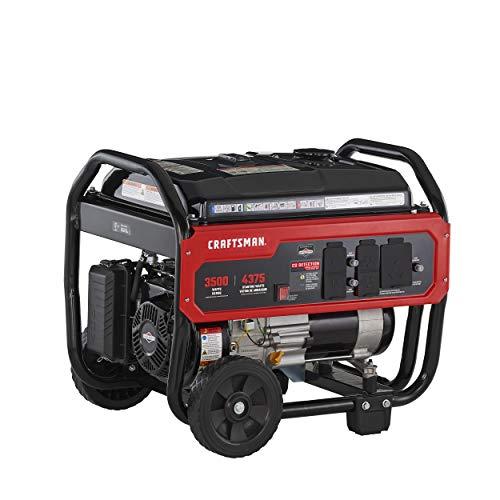 Craftsman 3500 Watt Portable Generator with CO Detection Technology, 4375 Starting Watts 3500 Running Watts, Powered by Briggs & Stratton