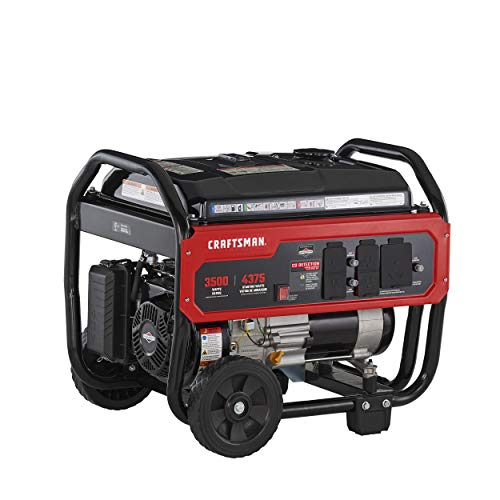 Craftsman 3500 Watt Portable Generator with CO Detection Technology, 4375 Starting Watts 3500 Running Watts, Powered by Briggs & Stratton