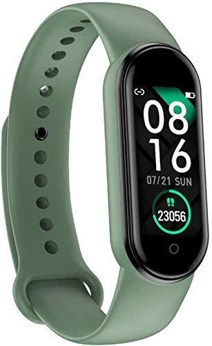 Monitor de ritmo cardíaco multideportivo, reloj inteligente, pantalla táctil, rastreador de actividad impermeable, pulsera inteligente con monitor