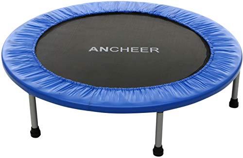ANCHEER Trampolin Fitness Plegable Mini Cama Elástica 38' para Adultos y Niños para Entrenamiento Cardio/Interiores/Jardín Carga máxima 100 kg